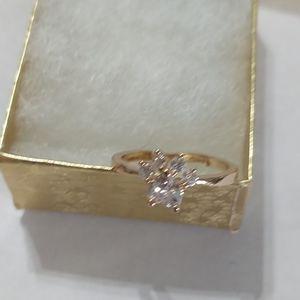 Crystal Bear Claw Platinum Gold Adjustable Ring